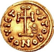 1 Tremissis - Anonymous / In the name of Justinian II, 705-711 – reverse