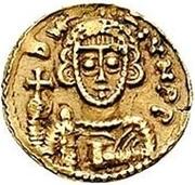 1 Tremissis - Liutprand & Scaunipergas / In the name of Justinian II, 705-711 – obverse
