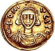 1 Solidus - Gregory / In the name of Justinian II, 705-711 (Without star) – obverse