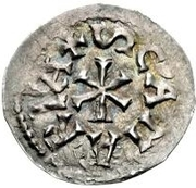 1 Denaro - Pietro, Bishop regent (Interregnum coinage) – reverse