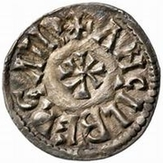 1 Denaro - Adelchi / In the name of Ludwig II, 844-875 & Angilberga, 855-875 – reverse