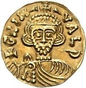 1 Tremissis - Grimoald III & Charlemagne, King of the Franks (Letters to the left and right) – obverse
