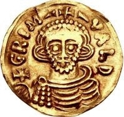 1 Tremissis - Grimoald III & Charlemagne, King of the Franks (Monorgam to the left) – obverse