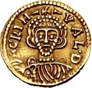 1 Tremissis - Grimoald III (Cross with circle near base) – obverse
