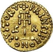 1 Tremissis - Grimoald III (Cross without circle near base) – reverse