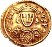 1 Solidus - Gregory / In the name of Justinian II, 705-711 (With star) – obverse