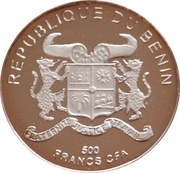 500 Francs CFA (Gorch Fock) – obverse