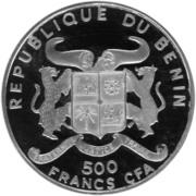 500 Francs CFA (Vreneli) – obverse