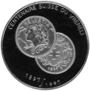 500 Francs CFA (Vreneli) – reverse