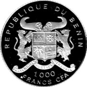 1000 Francs CFA (World Cup Soccer) – obverse