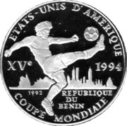 1000 Francs CFA (World Cup Soccer) – reverse