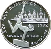1000 Francs CFA (Gymnast- 1992 Olympic Games) – reverse