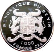 1000 Francs CFA (Olympics) – obverse