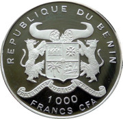 1000 Francs CFA (35 Years of Independence) – obverse