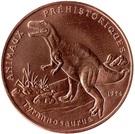 200 Francs CFA (Tyrannosaurus Rex) – reverse