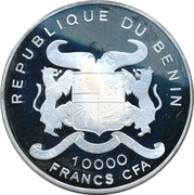 10 000 Francs CFA (40th Anniversary of the European currency) – obverse