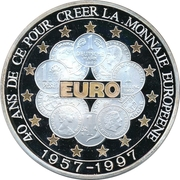10 000 Francs CFA (40th Anniversary of the European currency) – reverse