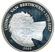 500 Francs CFA (L.van Beethoven) – reverse