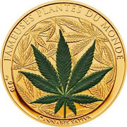 100 Francs CFA (Cannabis Sativa) – reverse