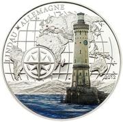 1000 Francs CFA (Lindau Lighthouse) – reverse