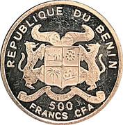 500 Francs CFA (W. A. Mozart) – obverse