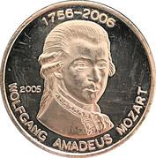 500 Francs CFA (W. A. Mozart) – reverse
