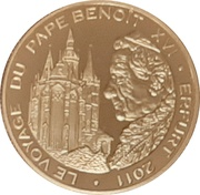 100 Francs CFA (Benedikt XVI) – reverse