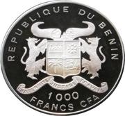 1000 Francs CFA (Panther) – obverse