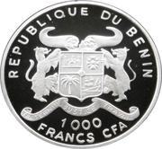1000 Francs CFA (Zebra) – obverse