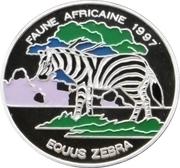 1000 Francs CFA (Zebra) – reverse