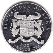 1000 Francs CFA (Iguanodon) – obverse