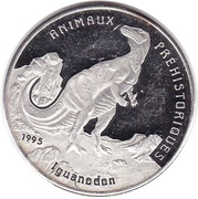 1000 Francs CFA (Iguanodon) – reverse