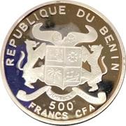 500 CFA Francs  (Mahatma Gandhi) – obverse
