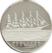 1000 Francs CFA (Sailing Ship - Preussen) – reverse