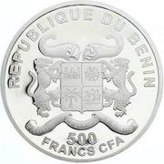 500 Francs CFA  (Pope Pius XII - colored) – obverse