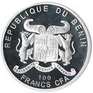 100 Francs CFA (Tea Rose) – obverse