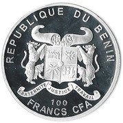 100 Francs CFA (Tea Rose) – obverse
