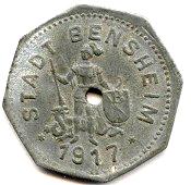 5 Pfennig - Bensheim – obverse