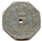 5 Pfennig - Bensheim – reverse