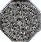 10 Pfennig - Bensheim – obverse
