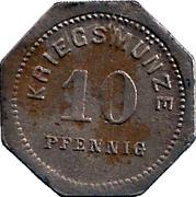 10 Pfennig - Bensheim – reverse