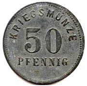 50 Pfennig - Bensheim – reverse