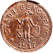 50 Pfennig - Bensheim – obverse