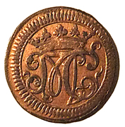 1 Pfennig - Moritz Kasimir I – obverse