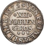 12 Mariengroschen - Johann Adolph – reverse