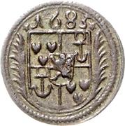 1½ Pfennig - Johann Adolph – obverse