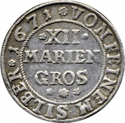 12 Mariengroschen - Moritz – reverse