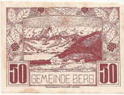 50 Heller (Berg) – obverse