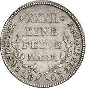 ½ Thaler - Maximilian Joseph IV. – reverse