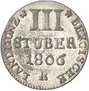 3 Stuber - Maximilian IV Joseph – reverse